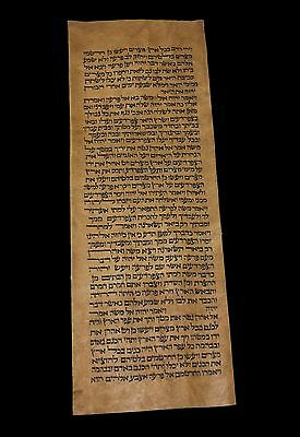 Torah Scroll Bible Manuscript Vellum Fragment/leaf Judaica 200 Yrs Morocco