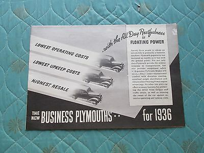 0926p  1936 Plymouth Business Cars sales brochure