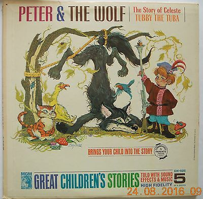 childrens LP story Peter & The Wolf - MGM Children's Series EXC