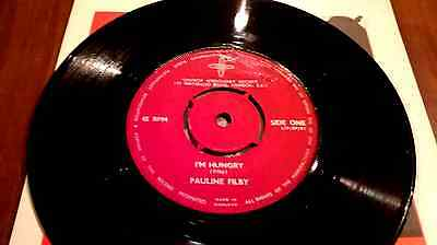 PAULINE FILBY  I'M HUNGRY / NADIA CATTOUSE - THE LARDER ex+ 1960'S VINYL 45