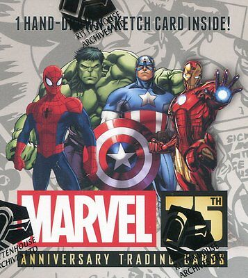 MARVEL 75th ANNIVERSARY TRADING CARDS - FACTORY SEALED BOX