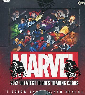 Marvel 2012 Greatest Heroes Trading Cards - Factory Sealed Box