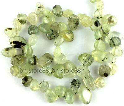 Natural Prehnite 8-12mm Flat Baroque Nugget Gemstone Beads 15.5''