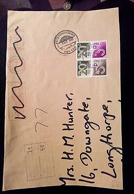 PIECE OF ENVELOPE PETERBOROUGH 1993 Postage due stamps  underpaid