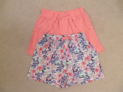 Two pairs Girls shorts 100% Cotton Age 3-4 years from George
