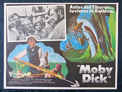 GREGORY PECK Moby Dick JOHN HUSTON 1956 ORSON WELLS  LOBBY CARD