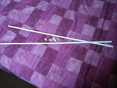 2 x Moses Basket hood bars and complete set of fittings Suitable for any basket