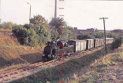 RUA668d POLAND narrow gauge steam locomotive Original 35mm slide with copyright