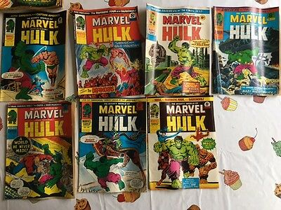 The Mighty World of Marvel, The Incredible Hulk Comics x 7 UK Edition