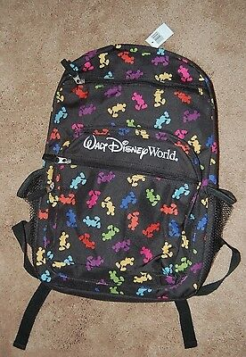 NWT Mickey Mouse Backpack  Multi Color Icon Walt Disney World Parks NEW!