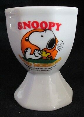 Vintage Good Morning SNOOPY Egg Cup