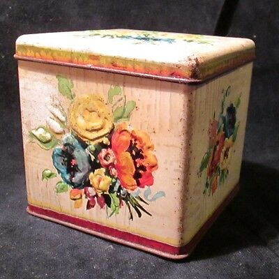 Vintage Collectable 12MB CONTAINER TIN with raised floral design