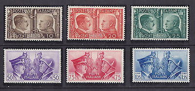 ITALY 1941 MNH Hitler & Mussolini Complete Set of 6 Stamps Michel #623-628 VF