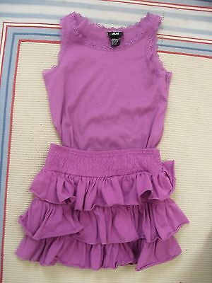 H&M Skirt & Vest Set  Size 6-8 years Fab Cond