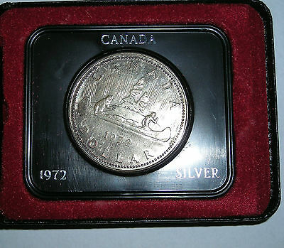 1972 Silver Royal Canadian  One Dollar Coin Boxed