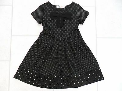 Girls H & M Black Spotted Formal / Party Dress Age 4/5 or 5/6 Years VGC