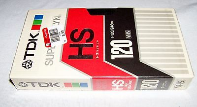 TDK HS High Standard T-120 Blank VHS Tape - New!!! SEALED!