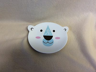 "Caribou Coffee KID'S CERAMIC BEAR FACE PLATE~6"" diameter H115SY0614"
