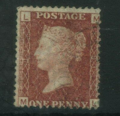 1858  1d  RED  SG 43/44  PLATE 91  USED