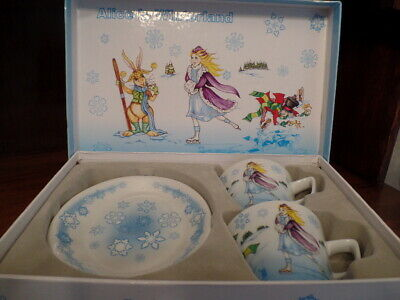 Paul Cardew Alice In Winter Wonderland Tea Set Pot, Cups, Saucers, Cream, Sugar