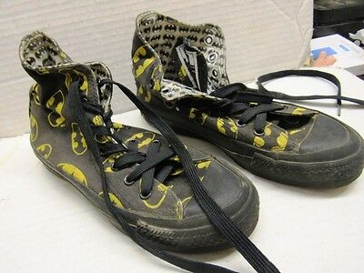 1989 Batman Sneakers Converse All Star Boys Or Mens Size 3? High Tops Unused