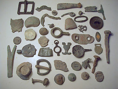 Dug Lot Metal Detecting Finds Post Medieval And Later About 40 Pieces