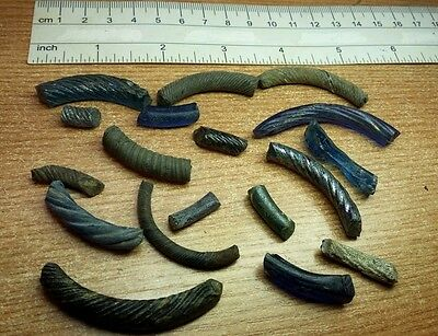 Set  of Unique Debris Fragments of Viking Glass Bracelets 9-10 AD #2342