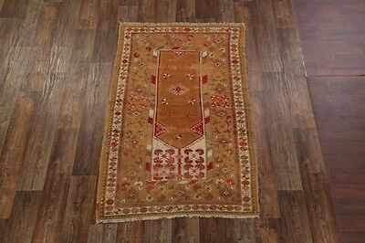 "Pre-1900 Antique 4x7 Anatolian Turkish Oriental Area Rug Carpet 6' 8"" x 4' 1"""