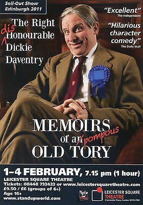 MEMOIRS OF A POMPOUS OLD TORY Theatre Flyer Handbill