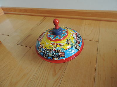 Vintage whistling Tin Litho Top Made In Western Germany