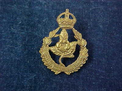 Orig WW1 Officers Collar Badge Queens Own Worcestershire Hussars JR Gaunt London