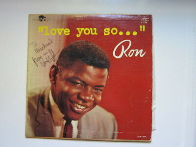 RON HOLDEN Love you So Lp  AUTOGRAPHED