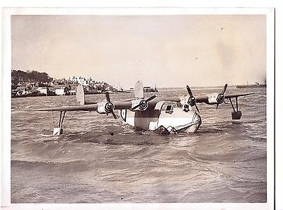 aviation photo SAUNDERS ROE SARO flying boat plane I.OW SHRIMP A7 aircraft COWES