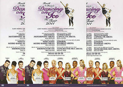 Dancing On Ice - 2011 Tour FLYERS x 3 (Vanilla Ice/Denise Welch/Sam Attwater)