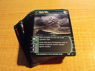 Star Wars Tcg Sith Rising Complete Complete Common And Uncommon Set Of 60