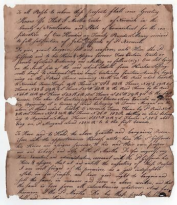 1790s CONNECTICUT Legal Document NORWICH New London CT County LAND Giffords