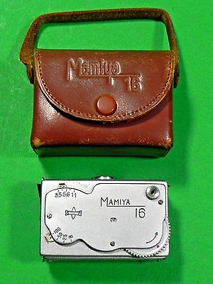 Mini Mamiya 16mm Camera, With Case, Made In Occupied Japan