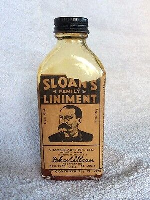 Sloane Family Liniment, Very Old Bottle. Collectable
