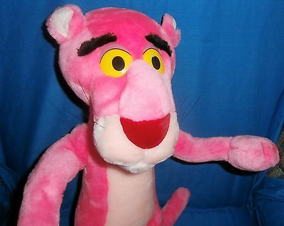 "Vintage 20"" PINK PANTHER Poseable Posable Plush Doll 1996 united artist"