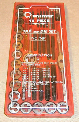 Wilmar 40 Piece Tap & Die Set In Case