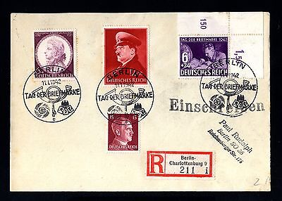 14209-GERMAN EMPIRE-Third R.REGISTER.NAZI COVER Berlin.1942.WWII.DEUTSCHES REICH