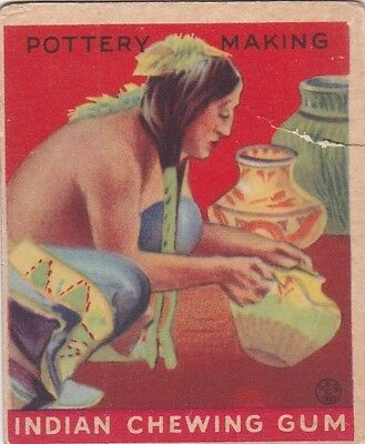 "POTTERY MAKING - 1933 GOUDEY GUM""indian series"" INDIAN CHEWING GUM trading card"