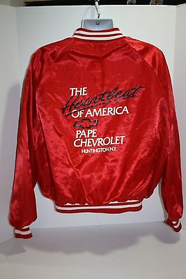Vtg Heartbeat of America CHEVY JACKET Mr Goodwrench King Louie Satin Jacket  XL