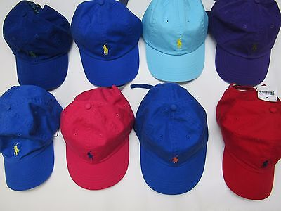 Nwt Polo Ralph Lauren Baseball Hat, Adjustable Strap, One Size, Assorted Colors