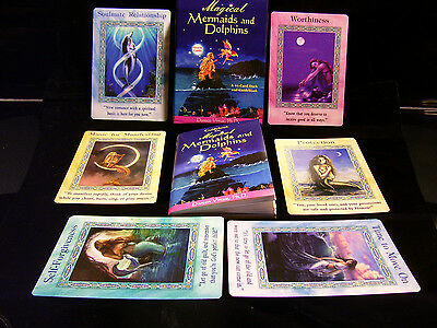 Sealed Brand New! Magical Mermaids & Dolphins Card & Book Oracle Manifest Goals