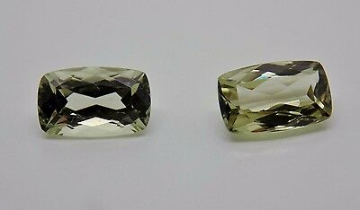 Zultanite Natural Loose Gems Pair 2 - 8x5mm 2.57 cttw Cushion Cert of Auth B004