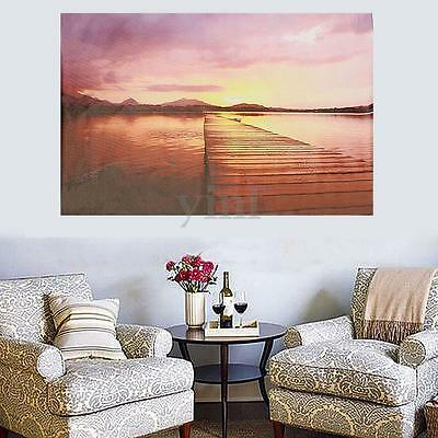Canvas Print Lake Sunset Scenery Art Oil Painting Picture Home Decor Unframed