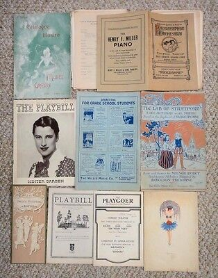 LOT antique PLAYBILLS stratford musee grevin roma winter garden forrest daly's