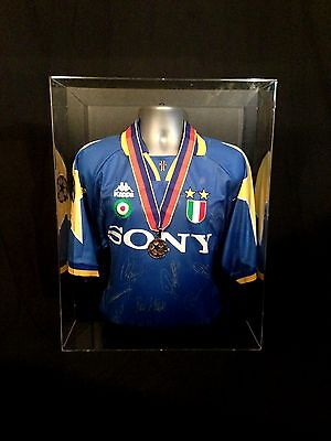 Juventus Squad Signed Champions League Final 1996 Shirt & Medal Display