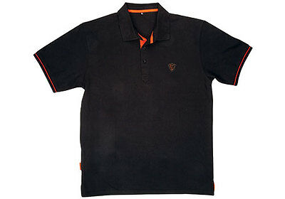 Fox Polo Shirt Black/Orange Angelshirt in Topqualität ansehen